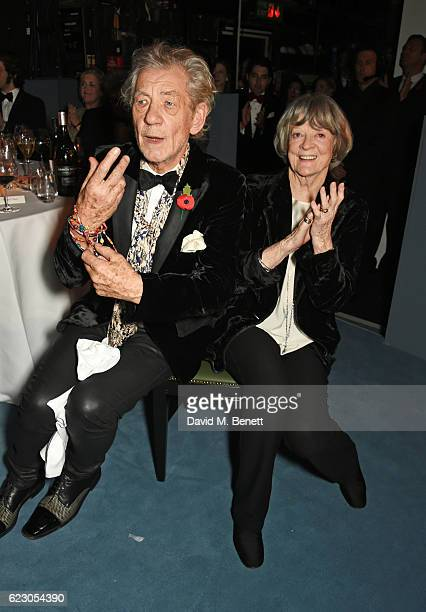 Sir Ian McKellen and Dame Maggie Smith attend the 62nd London Evening Standard Theatre Awards recognising excellence from across the world of theatre...