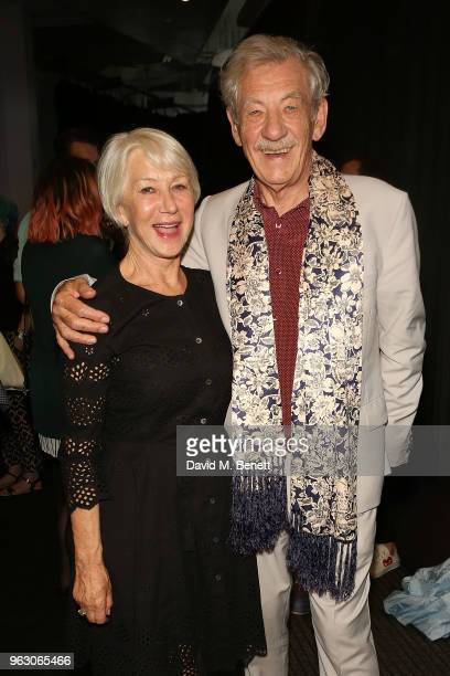 Sir Ian McKellen and Helen Mirren attend a special screening of McKellen Playing the Part at the BFI Southbank on May 27 2018 in London England