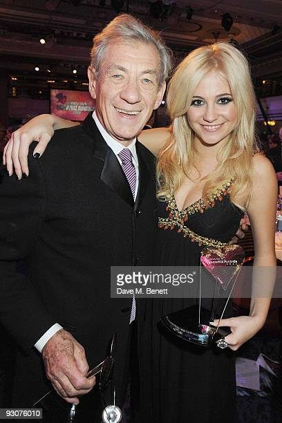 Sir Ian McKellen and Pixie Lott attend the Variety Club Showbiz Awards at the Grosvenor House on November 15 2009 in London England