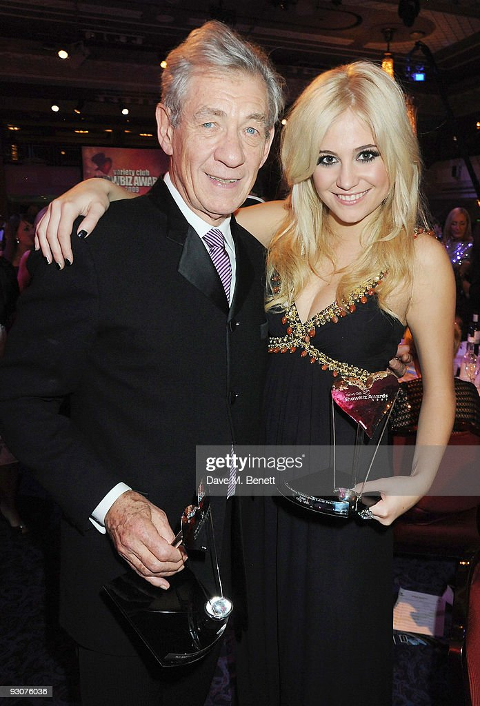 Sir Ian McKellen and Pixie Lott attend the Variety Club Showbiz Awards at the Grosvenor House on November 15, 2009 in London, England.