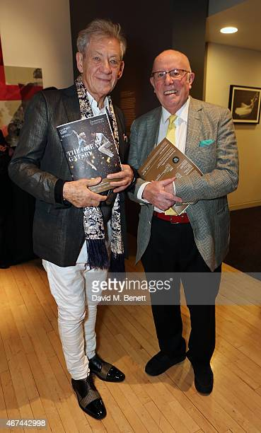 """Sir Ian McKellen and Richard Wilson attend the after party following the press night performance of """"Northern Ballet's The Great Gatsby"""" at Sadler's..."""