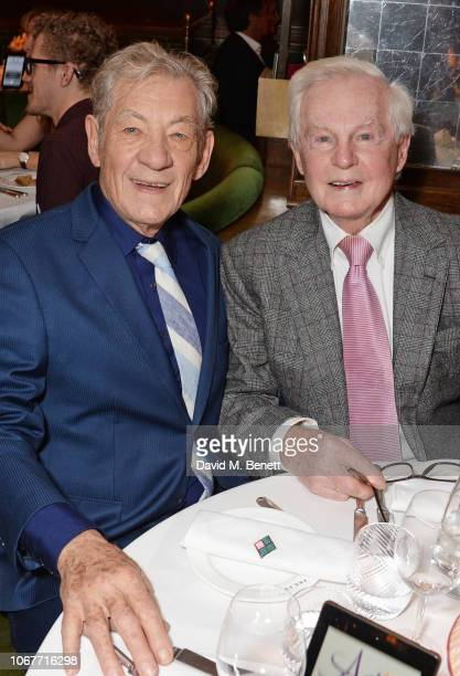 Sir Ian McKellen and Sir Derek Jacobi attend the annual 'One Night Only At The Ivy' in aid of Acting For Others on December 2 2018 in London England
