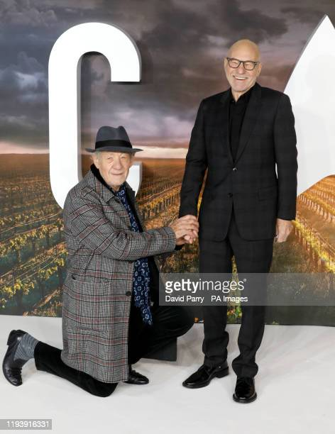 Sir Ian McKellen and Sir Patrick Stewart attending the Star Trek: Picard Premiere held at the Odeon Luxe Leicester Square, London.