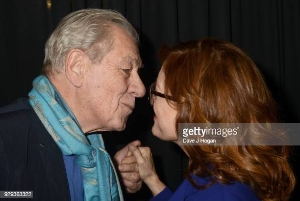 Sir Ian McKellen and Susan Sarandon attend Bombshell The Hedy Lamarr Story special screening at BFI Southbank on March 8 2018 in London United Kingdom