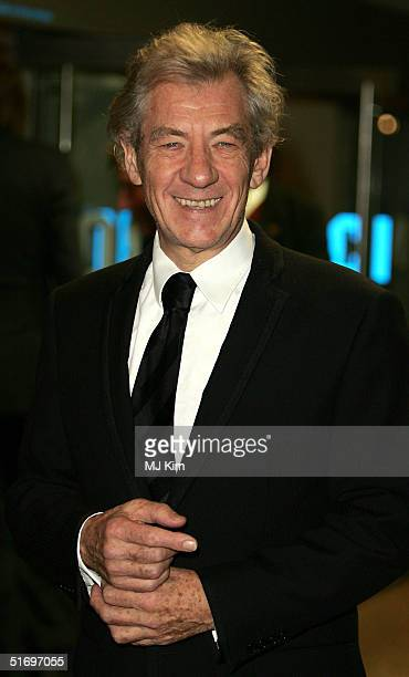 """Sir Ian McKellen arrives at the Cinema and Television Benevolent Fund Royal Film Performance annual charity screening, this year of """"Ladies In..."""