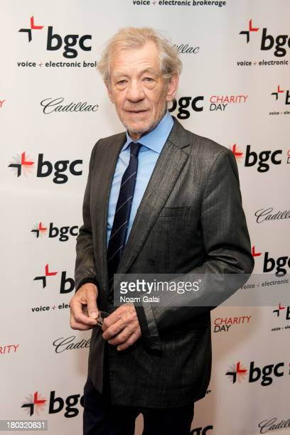 Sir Ian McKellen attends Cantor Fitzgerald And BGC Partners Annual Charity Day at BGC Partners INC on September 11 2013 in New York City
