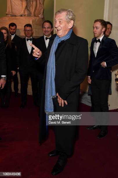 Sir Ian McKellen attends The 64th Evening Standard Theatre Awards at the Theatre Royal Drury Lane on November 18 2018 in London England