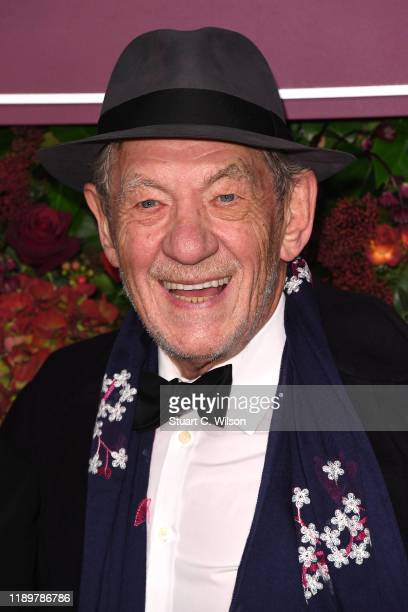 Sir Ian McKellen attends the 65th Evening Standard Theatre Awards at London Coliseum on November 24 2019 in London England