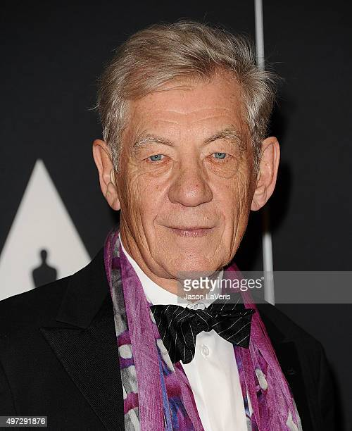 Sir Ian McKellen attends the 7th annual Governors Awards at The Ray Dolby Ballroom at Hollywood Highland Center on November 14 2015 in Hollywood...