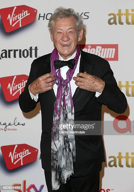 Sir Ian McKellen attends the Attitude Magazine Awards at Banqueting House on October 14 2015 in London England