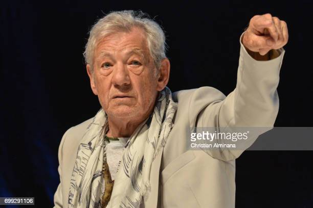 Sir Ian McKellen attends the Cannes Lions Festival 2017 on June 21 2017 in Cannes France