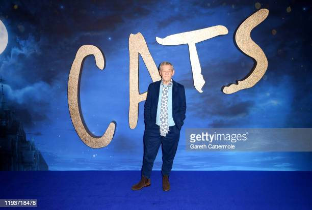 """Sir Ian McKellen attends the """"Cats"""" photocall at The Corinthia Hotel on December 13, 2019 in London, England."""