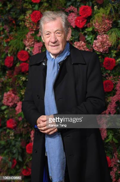 Sir Ian McKellen attends the Evening Standard Theatre Awards 2018 at Theatre Royal Drury Lane on November 18 2018 in London England