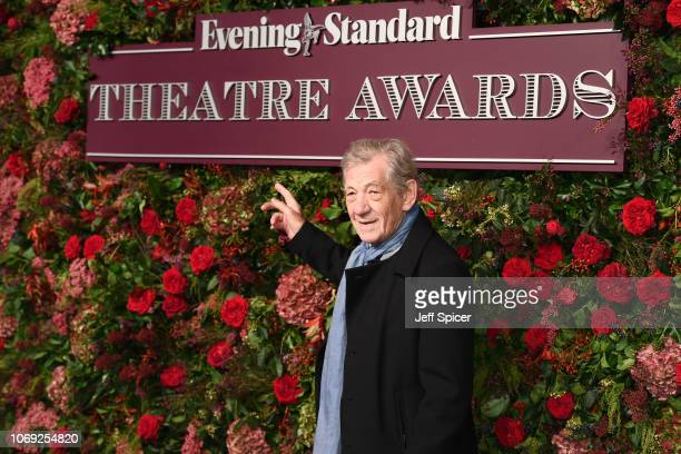 Sir Ian McKellen attends the Evening Standard Theatre Awards 2018 at the Theatre Royal on November 18 2018 in London England