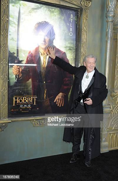 "Sir Ian McKellen attends ""The Hobbit: An Unexpected Journey"" New York Premiere Benefiting AFI at Ziegfeld Theater on December 6, 2012 in New York..."