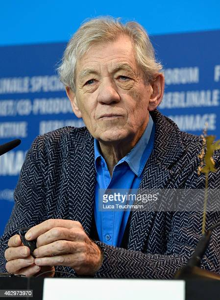 Sir Ian McKellen attends the 'Mr Holmes' press conference during the 65th Berlinale International Film Festival at Grand Hyatt Hotel on February 8...