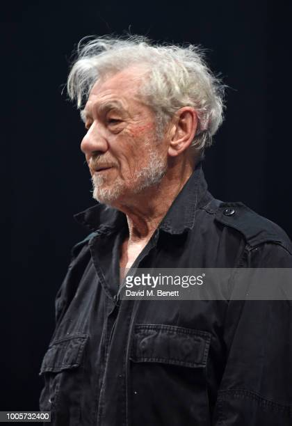 Sir Ian McKellen attends the press night after party for King Lear at No11 Carlton House Terrace on July 26 2018 in London England
