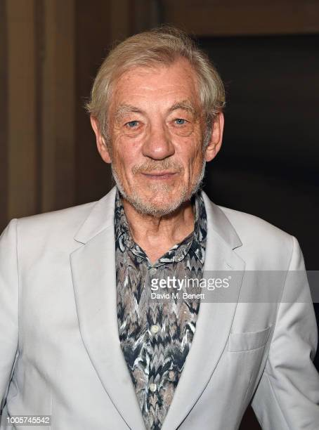 Sir Ian McKellen attends the press night after party for 'King Lear' at No11 Carlton House Terrace on July 26 2018 in London England