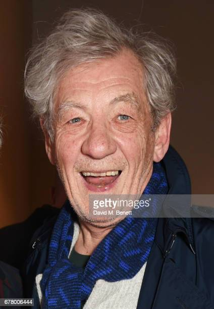 Sir Ian McKellen attends the press night performance of 'Madame Rubinstein' at the Park Theatre on May 3 2017 in London England