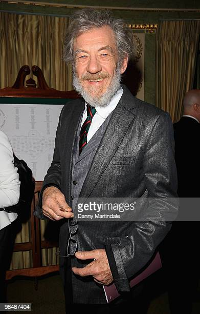 Sir Ian McKellen attends the Stonewall Equality Dinner at The Dorchester on April 15, 2010 in London, England.