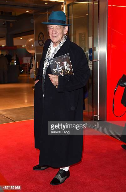 Sir Ian McKellen attends the VIP night for the Northern Ballets rendition of 'The Great Gatsby' at Sadlers Wells Theatre on March 24, 2015 in London,...
