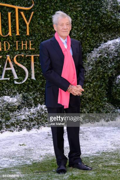 Sir Ian McKellen attends UK launch event for 'Beauty And The Beast' at Spencer House on February 23 2017 in London England