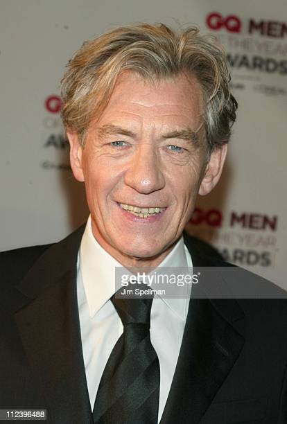 Sir Ian McKellen during 2002 GQ Men of the Year Awards Arrivals at Hammerstein Ballroom in New York City New York United States