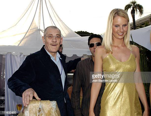 Sir Ian McKellen during 2003 Cannes Film Festival The Gold Party Sponsored by Stella Artois at Cannes in Cannes France