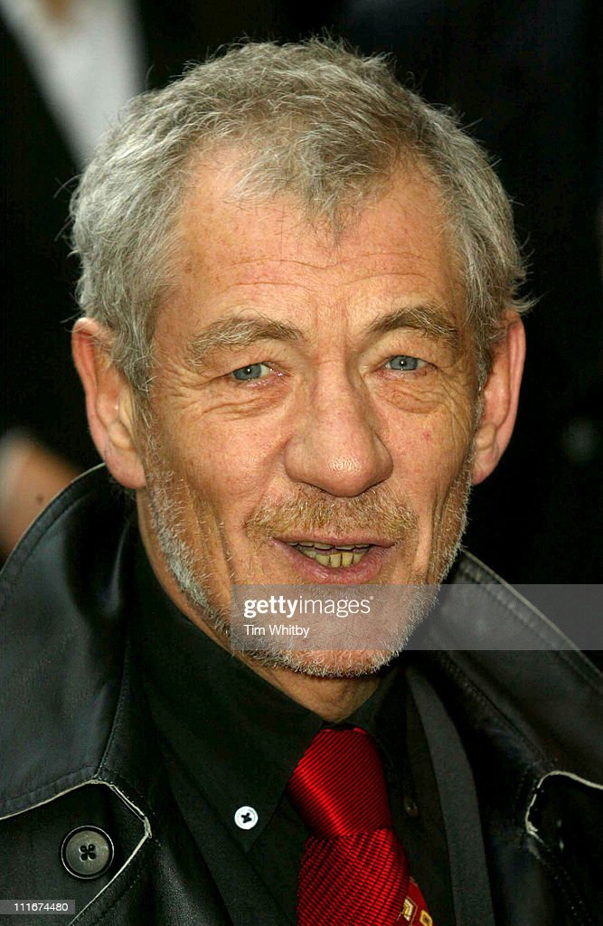 Sir Ian McKellen during 'Mamma Mia! - The Musical' Celebrates Its Fifth Anniversary - Arrivals at Prince Edward Theatre in London, Great Britain.