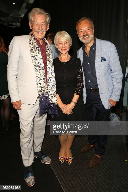 Sir Ian McKellen Helen Mirren and Graham Norton attend a special screening of McKellen Playing the Part at the BFI Southbank on May 27 2018 in London...
