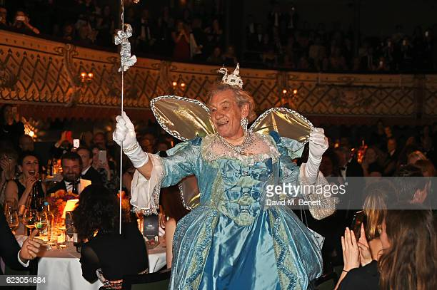 Sir Ian McKellen performs at the 62nd London Evening Standard Theatre Awards, recognising excellence from across the world of theatre and beyond, at...