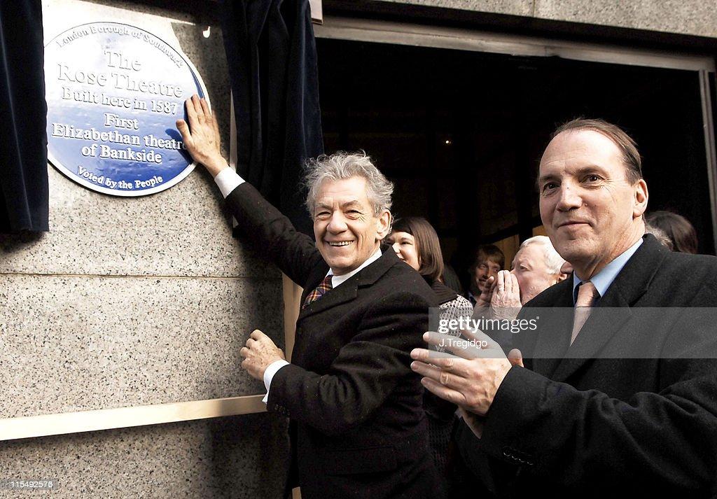 Sir Ian McKellen Unveils a Southwark Council Blue Plaque at the Historic Rose Theatre
