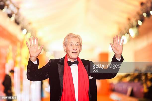 Sir Ian McKellen walks the red carpet of the 19th Shanghai International Film Festival at Shanghai Grand Theatre on June 11 2016 in Shanghai China