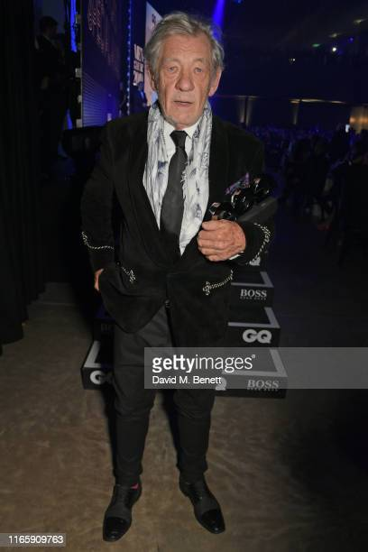 Sir Ian McKellen winner of the Legend award attends the the GQ Men Of The Year Awards 2019 in association with HUGO BOSS at the Tate Modern on...