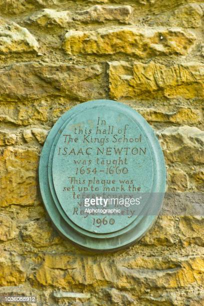 sir isaac newton's school - grantham lincolnshire stock photos and pictures