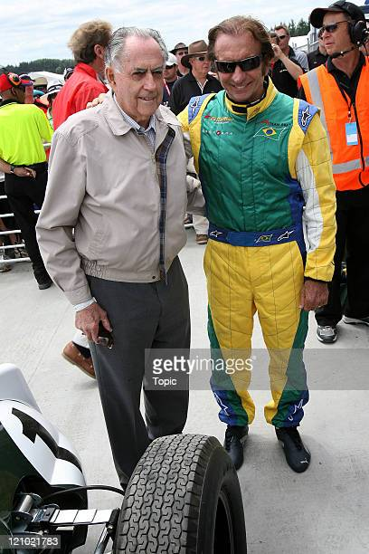 Sir Jack Brabham Emerson Fittipaldi during the A1 GP Taupo at Taupo Motorsport Park in New Zealand on January 20 2007