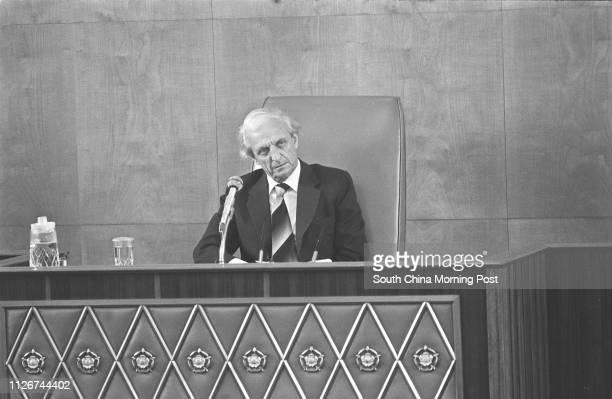 Sir Jack Cater presiding over a Legislative Council meeting 22JUL81