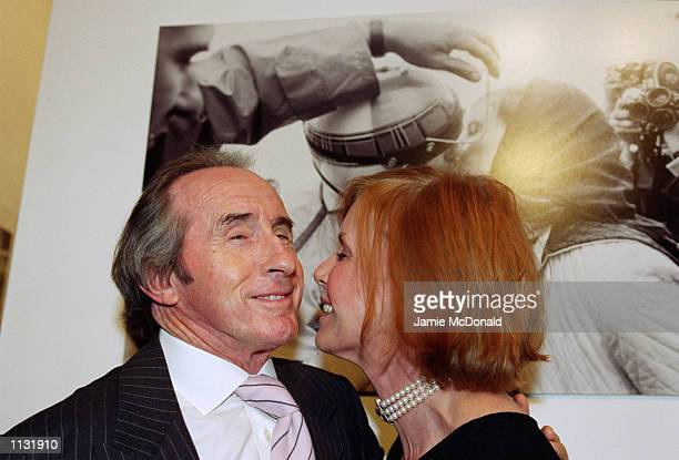 Sir Jackie and Lady Helen Stewart at the F1 A Photographic History evening at the Proud Gallery in Camden London on July 2 2002