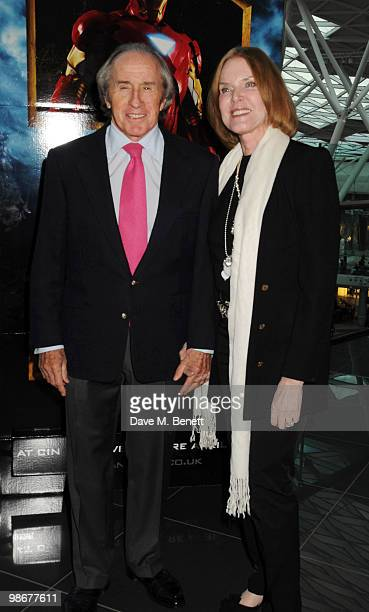 Sir Jackie and Lady Helen Stewart attend the 'Iron Man 2' VIP screening at Vue Westfield on April 26 2010 in London England