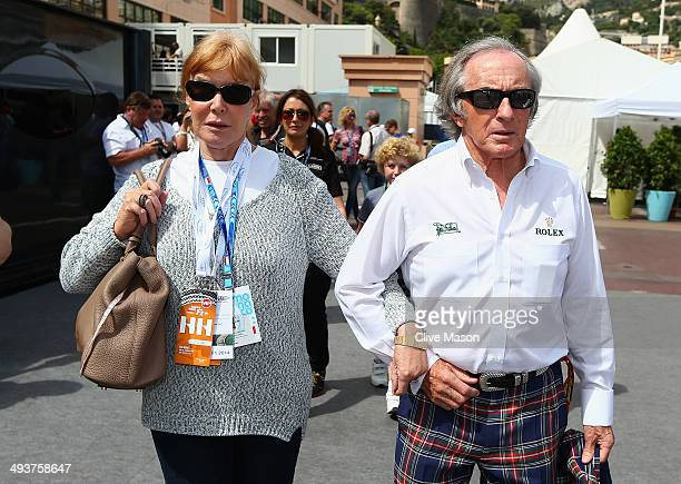 Sir Jackie Stewart and Helen Stewart arrive prior to the Monaco Formula One Grand Prix at Circuit de Monaco on May 25 2014 in MonteCarlo Monaco