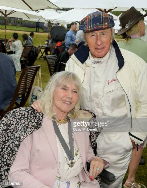 Sir Jackie Stewart and Helen Stewart attend Cartier Style Et Luxe at the Goodwood Festival Of Speed 2019 on July 7 2019 in Chichester England