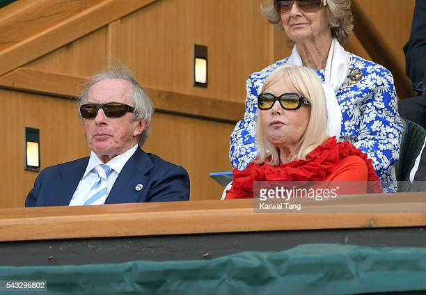 Sir Jackie Stewart and Lady Helen Stewart attend day one of the Wimbledon Tennis Championships at Wimbledon on June 27 2016 in London England