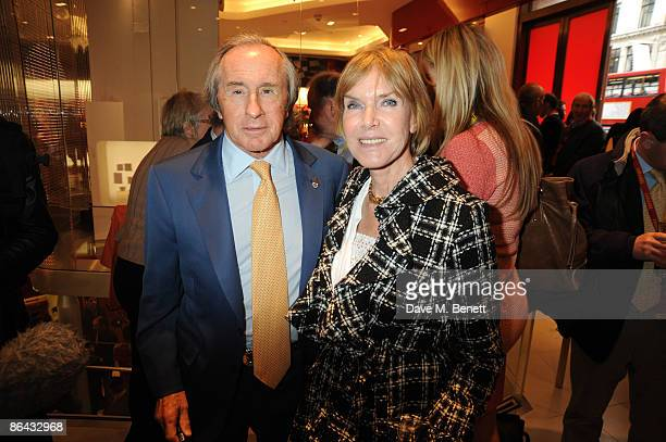 Sir Jackie Stewart and Lady Helen Stewart attend the launch of the the first British Ferrari store in Regent Street on May 6 2009 in London England