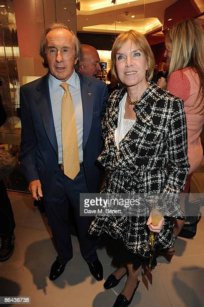 Sir Jackie Stewart and Lady Helen Stewart attend the launch of the UK's first Ferrari Store in Regent Street on May 6 2009 in London England