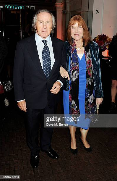 Sir Jackie Stewart and wife Helen attend a Gala Opening of 'RA Now' a new exhibition at the Royal Academy of Arts on October 8 2012 in London England