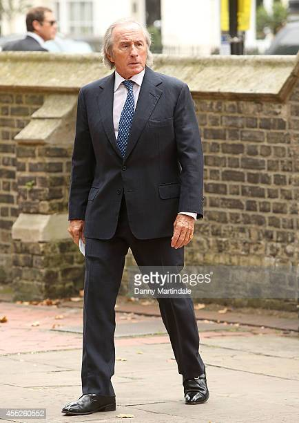 Sir Jackie Stewart attends a memorial service for Mark Shand at St Paul's Church on September 11 2014 in London England