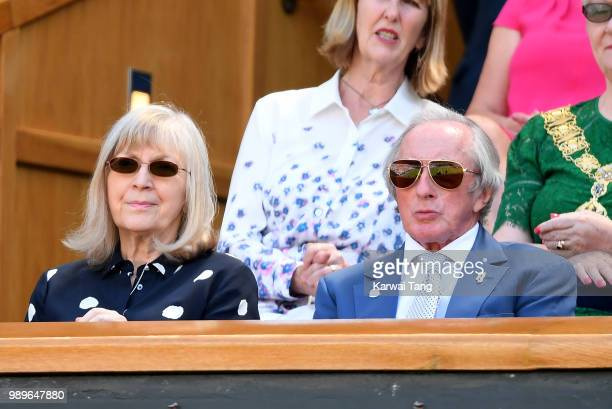 Sir Jackie Stewart attends day one of the Wimbledon Tennis Championships at the All England Lawn Tennis and Croquet Club on July 2 2018 in London...