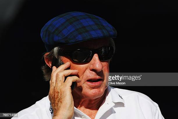 Sir Jackie Stewart is seen in the paddock following practice for the Italian Formula One Grand Prix at the Autodromo Nazionale di Monza on September...