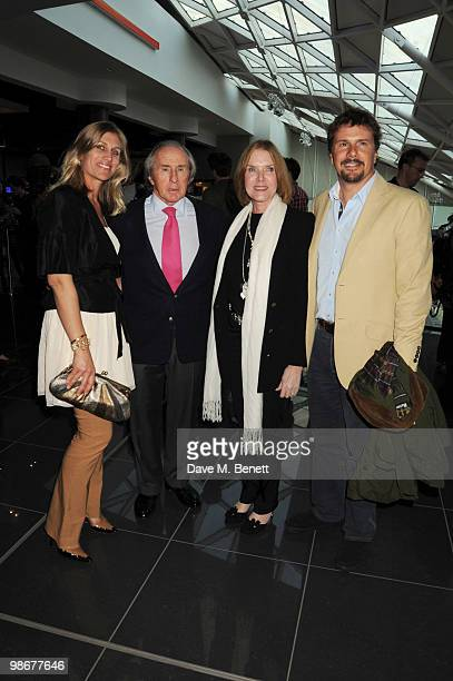 Sir Jackie Stewart Lady Helen Stewart and Paul Stewart attend the 'Iron Man 2' VIP screening at Vue Westfield on April 26 2010 in London England