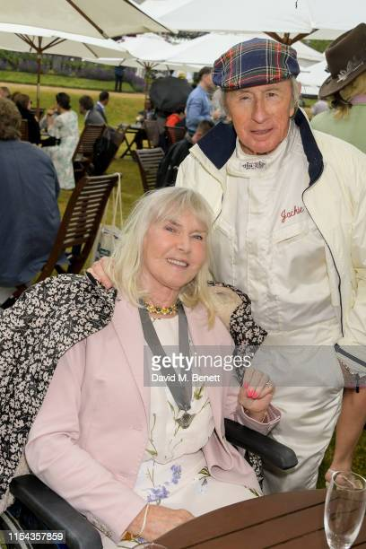 Sir Jackie Stewartand and Helen Stewart attend Cartier Style Et Luxe at the Goodwood Festival Of Speed 2019 on July 7 2019 in Chichester England